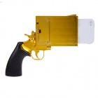 Pistol Style Protective Plastic Case for Iphone 4 / 4S - Golden + Black