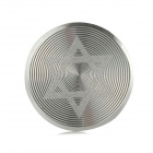 Hexagram Pattern Aluminum Alloy Home Button Protector for Iphone / Ipad / Ipod - Silver + White