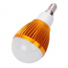 E14 5W 400lm 3500K 5-LED Warm White Light Bulb Lamp - Ivory + Golden (85 ~ 265V)
