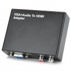 HDMI Digital Optical Signal to Analog R/L Audio Signal Converter - Black