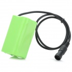 3.7V 8000mAh Rechargeable Li-ion 18650 Battery Pack for Headlamp - Green