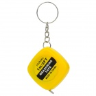 Mini 1m Measuring Tape Keychain - Yellow