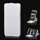 360 Degree Rotation Protective ABS Hard Back Case w/ Cover Stand for HTC One M7 - White