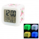 "Strawberry Pattern 2.8"" LCD Desktop Alarm Clock w/ 7-LED Backlight (2 x AG13 / 4 x AAA)"