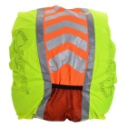 Salzmann H4005 Water Resisting Oxford Fabric Cover w/ Reflective Band for Backpack - Green + Orange