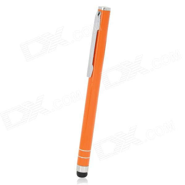 Ballpoint Pen Style Capacitive Touch Screen Stylus Pen w/ Clip for Iphone / Ipad - Orange