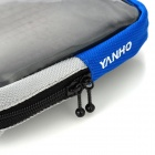 Bicycle Handlebar Mobile Phone Bag w/ Touch Screen - Grey + Blue