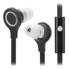 JTX JL-750A Universal 3.5mm In-Ear Earphone w/ Microphone / Sound Volume Control - Black + Silver