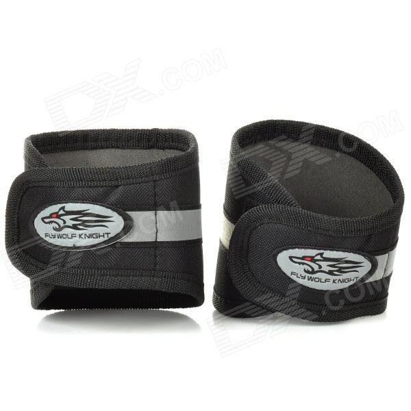 Fly Wolf Knight Outdoor Cycling Night Riding Safety Reflective Bandage - Black (2 PCS)