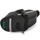 Acacia Oxford Cloth Bicycle Tail Seat Post Bag - Black