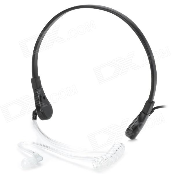 3.5mm Neckband anti-ruido Garganta Sense Air realización Headphone w / micrófono - Negro + Translucent