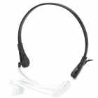 3.5mm Neckband Anti-noise Throat Sense Air Conducting Headphone w/ Microphone - Black + Translucent
