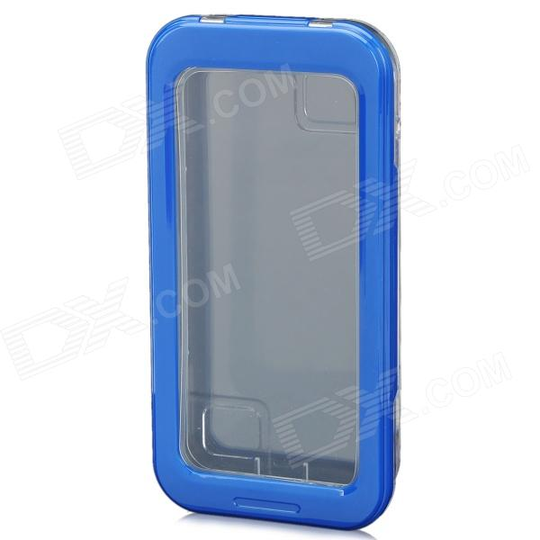 AW-101 Waterproof Plastic Case Box for Iphone 4 / 4S / 5 - Blue