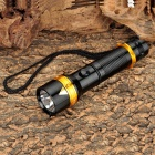 Aoxiang AX-100 3W LED 100lm 3-Mode White Flashlight - Black + Golden (1 x 18650)