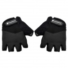NUCKILY N2045 Cycling Half Finger Gloves - Black (Pair / Size XL)