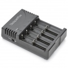 UniqueFire BC-U8 4-Slot Battery Charger for 14500 / 16340 / 17335 / AAA + More - Black + Silver