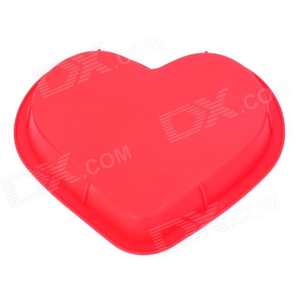 Heart Shaped 10 Silicone Chiffon Cake Mold - Red adjustable heart shaped cake cutter ring mold