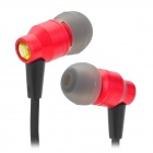 AWEI ES800M Super Bass 3.5mm Jack In-Ear Earphone w/ Clip - Red + Black