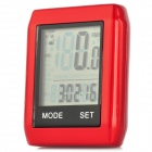 "BIKEVEE BKV-6000 2"" Display Screen Bike Computer - Red (1 x CR2032)"