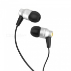 AWEI  ES800M Stylish In-ear Subwoofer Earphone Headset - Silver + Black (128cm)