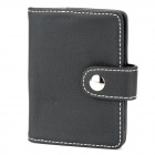 Fashion Artificial Leather Credit / Bank / Business Card Holder Bag - Black