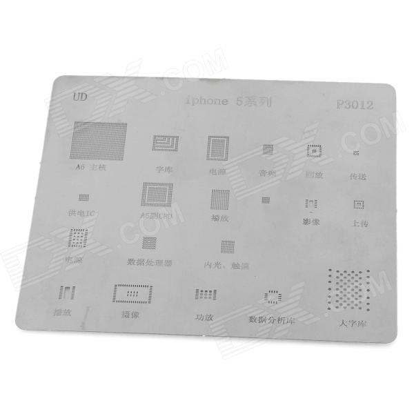 UD P3012 Repair Part Planting Tin Plate for Iphone 5 - Silver