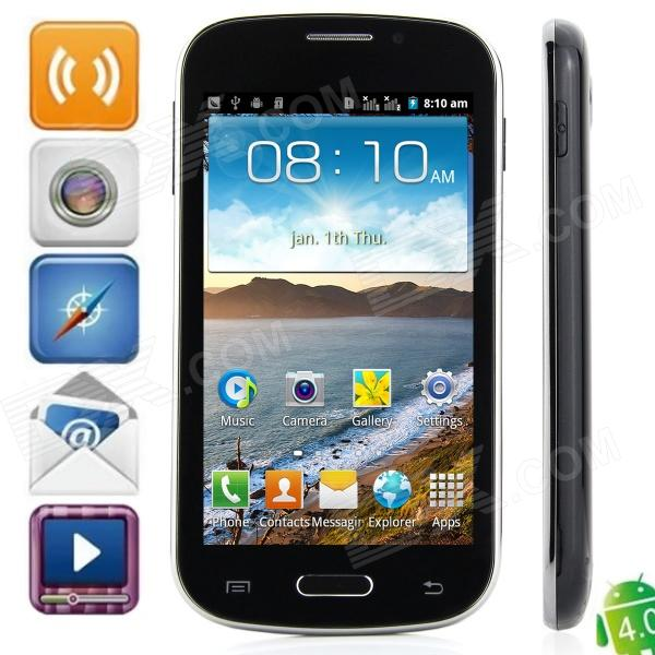 "I8730 Android 4.0.4 GSM Bar Phone w / 4.3 ""kapazitiver Schirm, Quad-Band-und Wi-Fi - Schwarz"