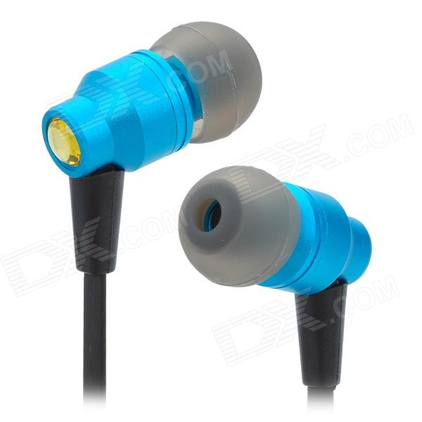 AWEI ES800M Super Bass 3.5mm Jack In-Ear Earphone w/ Clip - Blue + Black awei stylish in ear earphone with microphone for iphone ipad more black 3 5mm plug