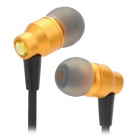 AWEI  ES800M Stylish In-ear Subwoofer Earphone Headset - Golden + Black (128cm)