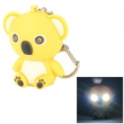 Cute Bear LED Keychain w / White Light / Sound - Jaune + Noir (3 x AG10)
