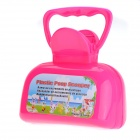 Plastic Portable Pet Dog Cat Pick Up Toilet - Deep Pink