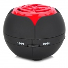 YWA-J2 Portable Retractable Mini Speaker w/ Mini USB / TF Slot / 3.5mm Jack - Black + Red