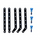 CNC Aluminum Extension Arms + Screws Set for Gopro HD Hero2 / HD Hero3 / 3+ - Black + Green