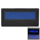B729SB 203 LEDs Digital Name Tag - Black + Blue (2 x CR2032)