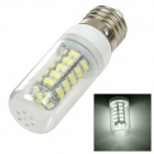 SENCART E27 3W 120lm 6700K 68-SMD 3528 LED White Light Lamp - Transparent + White (12~24V)