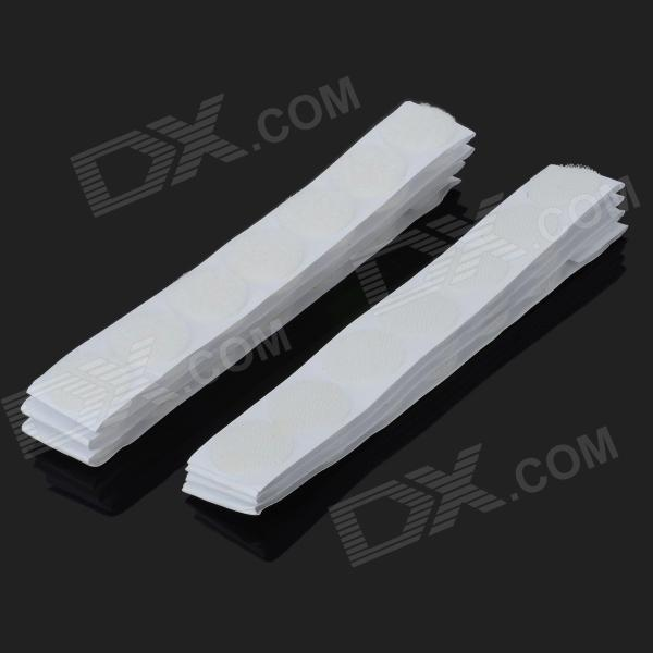 KX-Y25MM 25mm Round Self Adhesive Velcro Hook & Loop Tapes - White (50 Pairs) feng ling sb5512 ultrathin young model double eyelid tapes white yellow 240 pieces pack