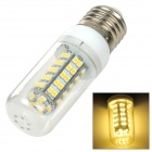 SENCART E27 3W 95lm 3500K 68-SMD 3528 LED Warm White Light Lamp - Transparent + White (12~24V)