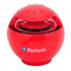 D600 Bluetooth V2.1+ EDR Stereo MP3 Player Speaker w/ USB / TF / Microphone / Mini USB - Red + Black