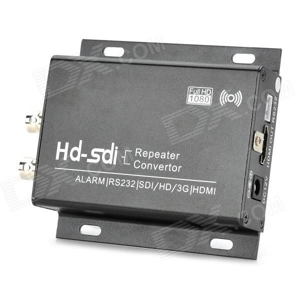 SHC21 Aluminum Alloy HD-SDI SDI to HDMI Converter / Repeater - Black + White 2 in 1 10ka bnc video signal 2pin power surge protection device black silver 12 24 220v