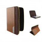 "Zipper Protective PU Leather Case for 7"" Samsung Galaxy Tab  P3100 / 6200 - Brown"