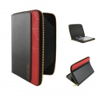 "Zipper Protective PU Leather Case for 10.1"" Samsung Galaxy Tab  N8000 - Black + Red"
