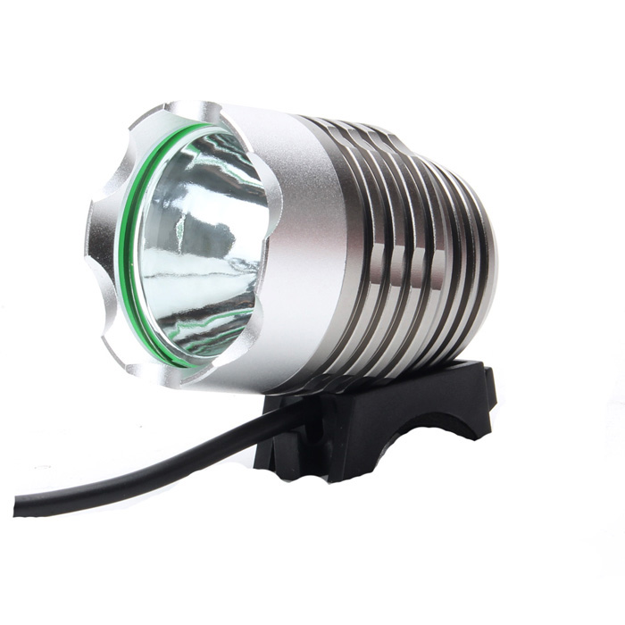 SL-8001 900lm 4-Mode White Bicycle Light & Headlamp w/ Cree XM-L T6 - Dark Brown (4 x 18650)