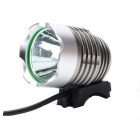 SL-8001 Cree XM-L T6 900lm 4-Mode White Bicycle Light & Headlamp - Dark Brown (4 x 18650)