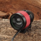 SL-8004 900lm 4-Mode White Zooming Bicycle Light Headlamp w/ Cree XM-L T6 - Black + Red (4 x 18650)