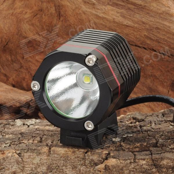 SL-8006 900lm 4-Mode White Bicycle Light & Headlamp w/ Cree XM-L T6 - Black + Red (4 x 18650)
