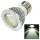 SENCART E27 3W 180lm 6000K COB LED White Light Spotlight - Silver + White (95~265V)