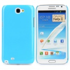 Shining Protective Hard Plastic Back Case for Samsung Galaxy Note II N7100 - Blue