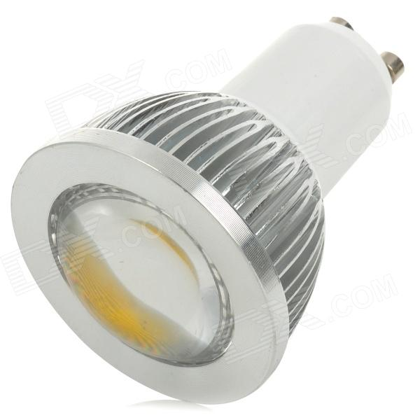 SENCART GU10 3W 185lm 3500K COB LED Warm White Light Spotlight - Silver + White (95~265V)