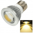 Sencart E27 3W 185lm 3500K 3-COB-LED Warm White Light Spotlight - Silber + Weiß (95 ~ 265)