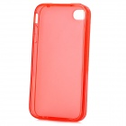 Protective TPU Back Case w/ Anti-dust Plug for Iphone 4 / 4S - Red